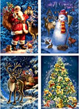 Zariocy DIY 5D Christmas Snowman Family Diamond Painting Kits Round Full Drill Paint with Diamond Arts Crystal Rhinestone Diamond Embroidery Craft for Home Wall Decor 30x40cm//12x16inch