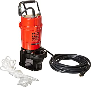 """Multiquip ST2040T Electric Submersible Trash Pump with Single Phase Motor, 1 HP, 79 GPM, 2"""" Suction & Discharge"""