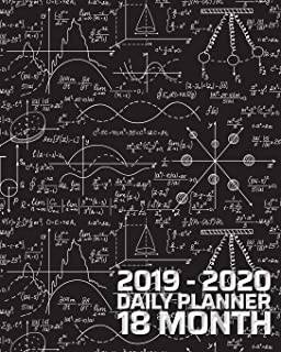 18 Month Daily Planner: June 2019 - December 2020 | Smart Match Physics STEM Study 18 Month Daily Organizer Calendar Agenda | 8x10 | For work, travel, ... Blank Notes (STEM Daily and Monthly Planner)