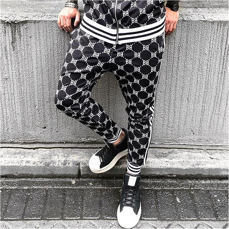 Jacket Streetwear Spring and Autumn New Men's Suit Jogger Brand Hip Hop Casual Men's Clothing Zipper Jacket Fashion Pants (Color : Black Pants, Size : M(160 170))