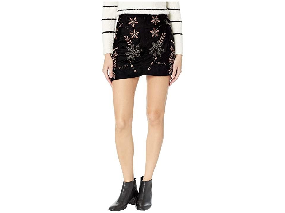 Free People Bright Lights Mini Skirt (Black) Women