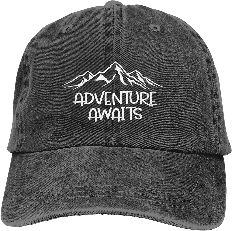 Baseball Cap for Women Fashionable Adjustable Washed Cotton Black Outdoor Denim Dad Hat for Men