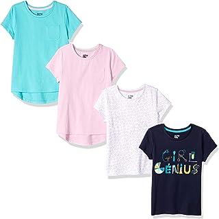 c47effa1a505c Spotted Zebra Girls  4-Pack Short-Sleeve T-Shirts
