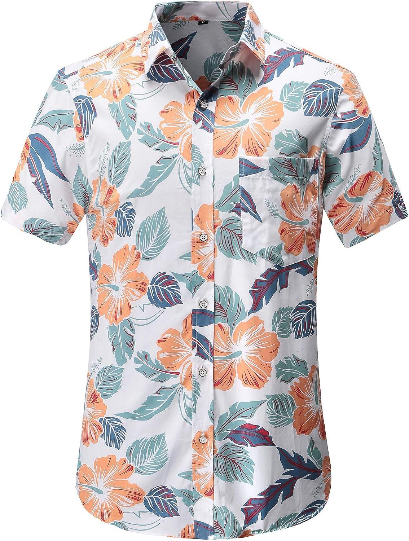 Dioufond Mens Hawaiian Max 46% OFF Shirts Cotton Trust Shirt Hawaiin Short Sleeve