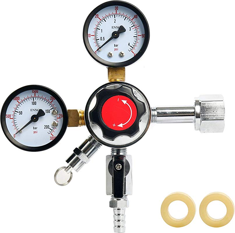 YaeBrew Dual Gauge Co2 Draft Beer Dispensing Regulator Chrome Plated Brass CGA 320