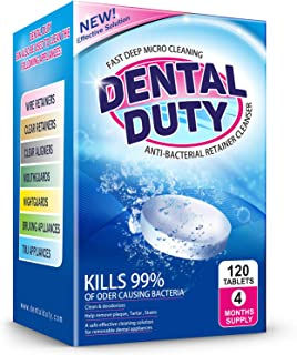 120 Retainer and Denture Cleaning Tablets (4 Months Supply) – Cleaner Removes Bad..