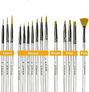 Premium Fine Detail Paint Brush Set of 15 pcs, Miniature Paint Brushes kit, Tiny Small Model Brushes for Acrylic Painting,...