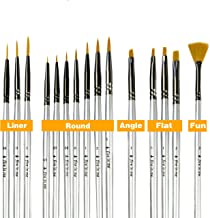 Premium Fine Detail Paint Brush Set of 15 pcs, Miniature Paint Brushes kit, Tiny Small Model Brushes for Acrylic Painting, Watercolor Oil - for Miniatures, Fine Detailing, Model, Art Hobby Supplies