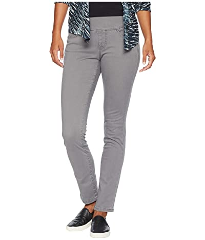 Jag Jeans Petite Peri Pull-On Straight Leg Pants in Bay Twill (Grey Streak) Women