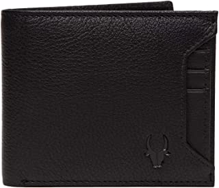 WildHorn Genuine Leather Hand-Crafted Bifold Wallet,Ultra Slim Wallet with 6 Card Slot,Coin pocket,Quick Card Slot and 2 Currency Pocket for ID Card,CreditCard,Business Card,Cash WildHorn Black WHW129