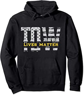 TOW Live Matter Tow Truck Gift Idea Thin Yellow Line Pullover Hoodie