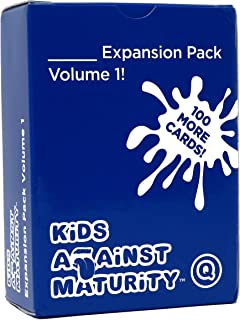Kids Against Maturity: Card Game for Kids and Humanity, Super Fun Hilarious for Family Party Game Night, Expansion Pack #1