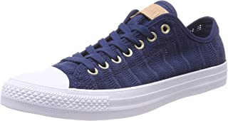 Converse Women's CTAS OX Navy/Tan/White Trainers, Blue (Navy/Tan/White 426), 3.5 UK