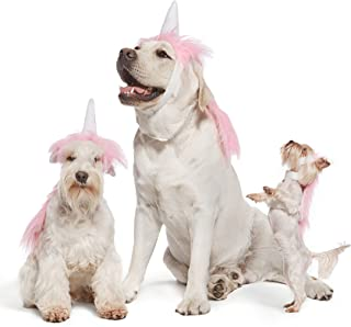 Nothing But Love Pink Unicorn Costume for Dogs Pups Mane & Horn Headdress Wig Pet Dress Up Party