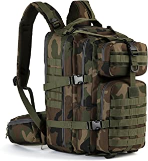 Gelindo Military Tactical Backpack, Hydration Backpack, Army Molle Bag, Small Rucksack for Hunting, Survival, Camping, Trekking, School, 35L
