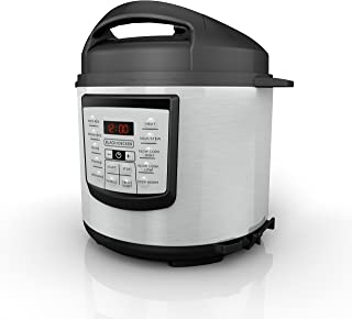 BLACK+DECKER 6 quart 11-in-1 Cooking Pot, Stainless Steel, Pressure Cooker, Slow Cooker, Multi-Cooker, PR100