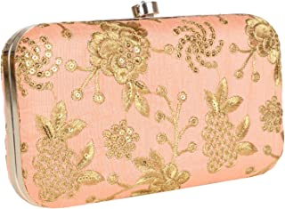 Suman Enterprises Evening Clutch for Women & Girls, With Embroidery Work Hand Clutch Purse For All Function Occasions