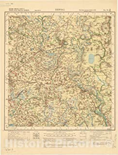 Historic Pictoric Map : Jessore, Khulna, Nadia & Twenty-Four Parganas Districts, Bengal, No. 79 B/N.E. 1924, India and Adjacent Countries, Antique Vintage Reproduction : 34in x 44in