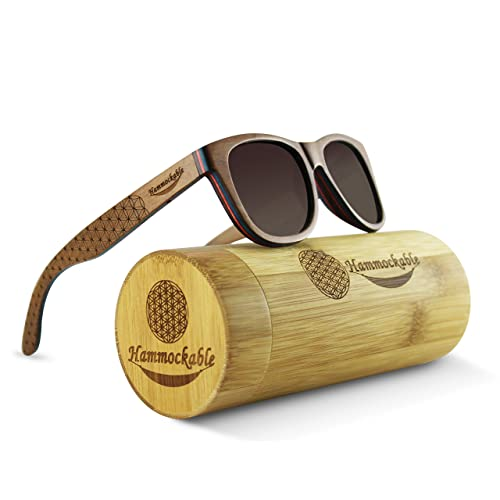 953e5e909408 Maple Wood Sunglasses - 100% Polarized Lenses in a Handmade Wooden Wayfarer  that Floats!