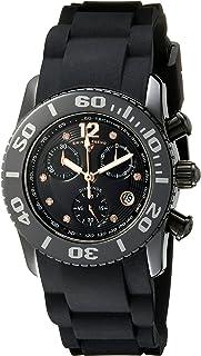 Swiss Legend Women's 10128-01-RA Commander Diamonds Analog Display Swiss Quartz Black Watch