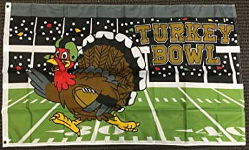 3x5 Turkey Bowl Football Flag Happy Thanksgivings Holiday Outdoor Banner Pennant