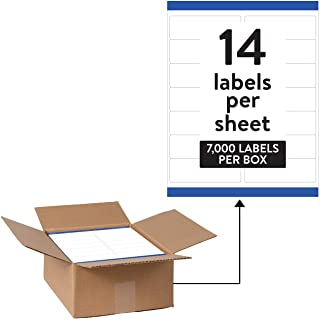 "Avery Waterproof Address Labels with Sure Feed & TrueBlock 1-1/3"" x 4"", 7,000 White Labels (95522)"