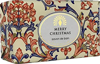 The English Soap Company, Vintage Wrapped Luxury Moisturising Shea Butter Hand Soap, Christmas Spice - Mulled Wine, 200g