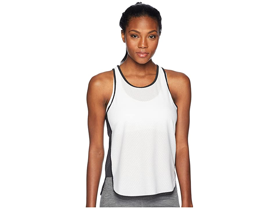 New Balance Determination Mesh Tank Top (Black/White) Women