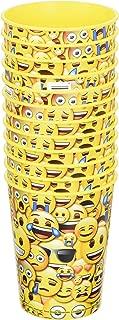 Emoji 16 oz Yellow Reusable Plastic Cup 12 Pieces