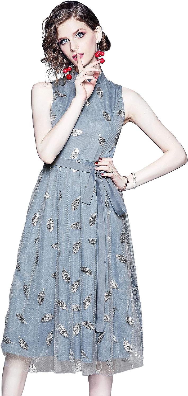 Women's Vintage Floral Lace Cocktail Dress Elegant Swing Summer Fashion Party Dresses