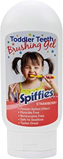Spiffies I Can Brush/Baby Tooth Gel, Strawberry, 4 Ounce