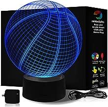 إضاءة ليلية فريدة 7 ألوان LED لا تسخن من Rainbolights مثالية في غرفة الأطفال أو غرفة النوم فكرة هدية رائعة  Basketball