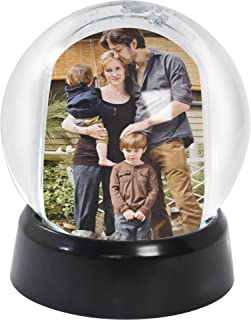 Mini Photo Snow Globe (Black Base)