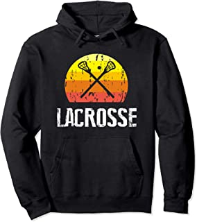 Retro Style Lacrosse Silhouette Hoodie Gift For Girls ,Boys