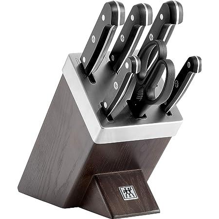 ZWILLING Bloc de Couteaux avec Auto-Affûtage, 7 Pièces, Bloc en Bois, Couteaux & Ciseaux en Acier Inoxydable Spécial/Manche Plastique, Gourmet