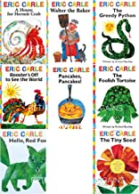The Eric Carle Library Featuring 8 Classic Board Books Boxed Set [The Greedy Python, The Foolish Toroise, Rooster's Off to...