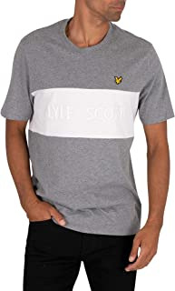 LYLE & SCOTT Men's Colourblock Embroidered T-Shirt, Grey
