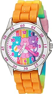 Care Bears Girls' Analog-Quartz Watch with Rubber Strap, Multi, 15.6 (Model: CRB9001)