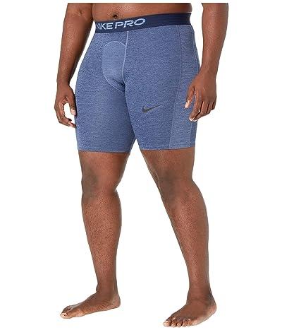 Nike Big Tall Pro Shorts (Obsidian/Ocean Fog/Black) Men