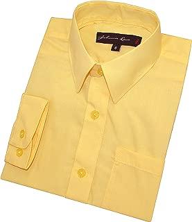 Boy's Long Sleeves Solid Dress Shirt #JL32