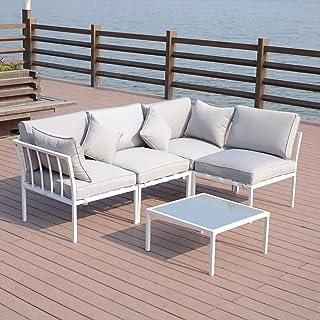 Amazon Com White Conversation Sets Patio Furniture Sets Patio
