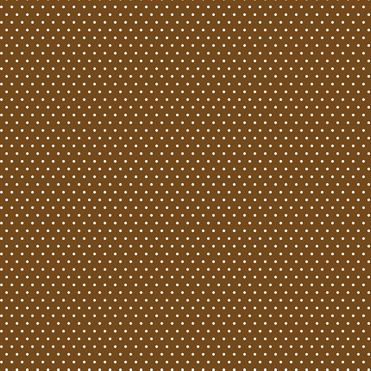 American Crafts Core'dinations 12 Pack of 12 x 12 Inch Patterned Paper Brown Small Dot,