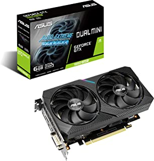 ASUS Dual GeForce GTX 1660 SUPER MINI Gaming Graphics Card (PCIe 3.0, 6GB GDDR6 memory, HDMI, DisplayPort, DVI-D, for Inte...