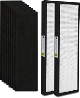2-Pack FLT4825 True HEPA Air Purifier Filter B Replacement Compatible for GermGuardian Models AC4825 AC4850PT AC4900CA AC4820 PureGuardian AP2200CA Plus 8 Carcon Filter