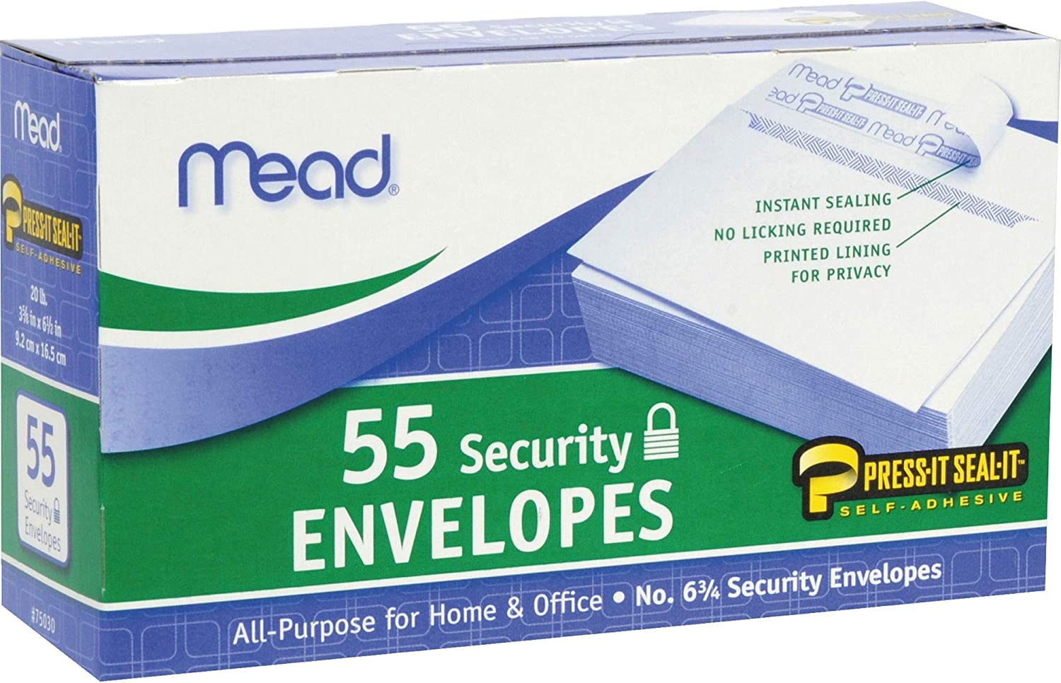 MEA75030 - Press-it Seal-it Security Envelope 55 security 3 8 5 Count Dealing full price reduction i