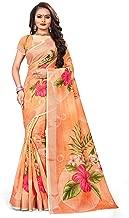 High Dreams Orange Linen Saree