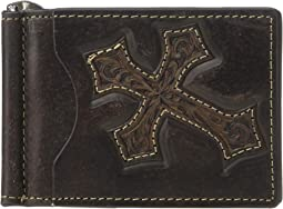 Nocona Distressed Cross Money Clip