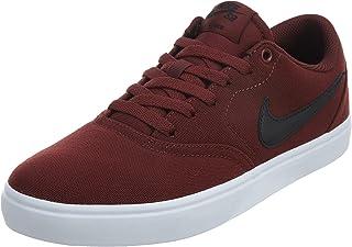 NIKE 843896-611: SB Check Solarsoft Men's Dark Team Red/Black White Sneaker (9.5 D(M) US Mens)