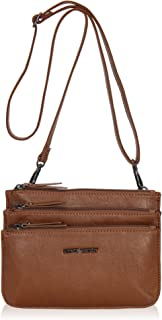 Hynes Victory Multi Pockets Crossbody Bag Small Wristlet Purse for Woman