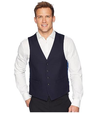 Kenneth Cole Reaction Techni-Cole Stretch Suit Separate Vest (Navy Shadow Check) Men
